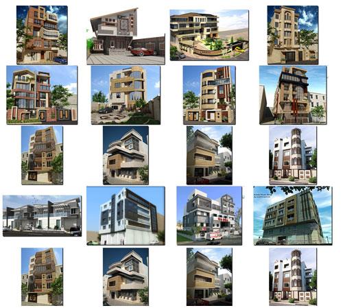 طراحی نما نمای اپارتمان مسکونی